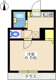 メゾン山口1階Fの間取り画像