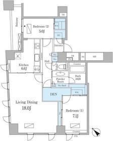 ルクセンブルグハウス8階Fの間取り画像