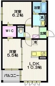 ル・マルスⅡ1階Fの間取り画像
