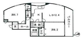 ファンテージ2階Fの間取り画像
