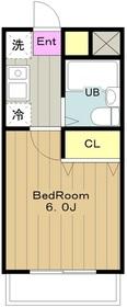 スカイコートよみうりランド3階Fの間取り画像
