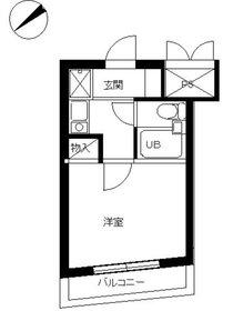 スカイコート川崎86階Fの間取り画像