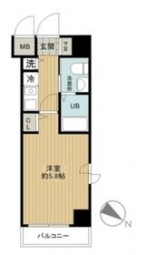 グリフィン横浜・ベイブリーズ4階Fの間取り画像
