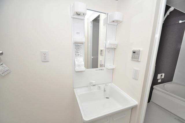 シャーメゾンプランタン 独立した洗面所には洗濯機置場もあり、脱衣場も広めです。