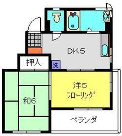 ライジングビルYOSHIZAKI5階Fの間取り画像