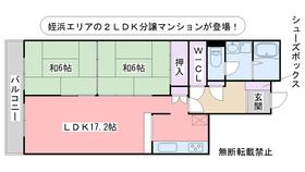 コープ野村東姪浜3階Fの間取り画像