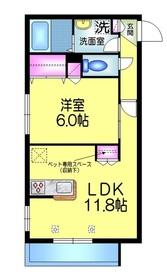 ラウレア ハマノ2階Fの間取り画像