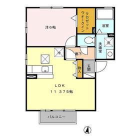 本厚木駅 バス20分「上依知中央」徒歩3分1階Fの間取り画像