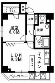KDXレジデンス文京湯島10階Fの間取り画像