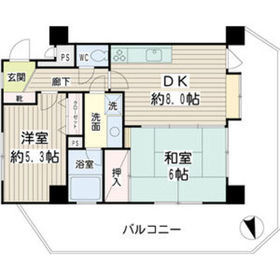 プレセランス鶴見4階Fの間取り画像