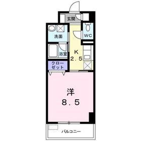 ミルト ブリーゼ S3階Fの間取り画像