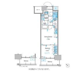 パークアクシス豊洲キャナル14階Fの間取り画像