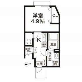 桜丘アパートメントハウス1階Fの間取り画像