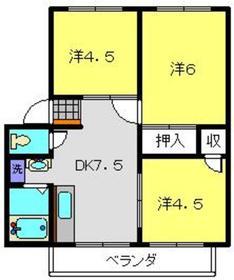 ハイツ寺尾第22階Fの間取り画像