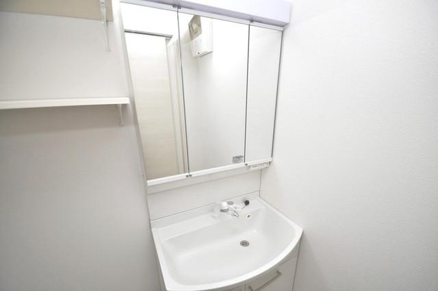 クリエオーレ稲田本町 豪華な洗面台はもちろんシャンプードレッサー完備です。