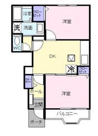 クラール K1階Fの間取り画像