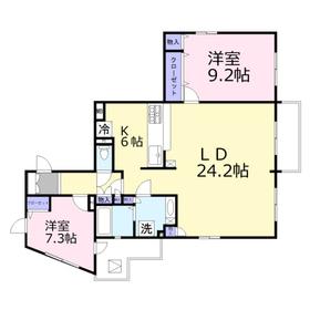 イーストサイドコート5階Fの間取り画像