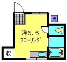 パワーハイツⅡ1階Fの間取り画像