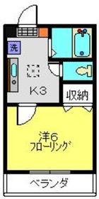 メゾンチェリー1階Fの間取り画像