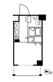アーバンファースト神楽坂2階Fの間取り画像