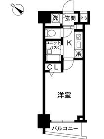 スカイコート池袋第74階Fの間取り画像