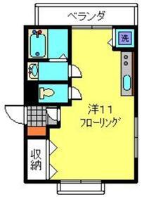 プリティナージュ横濱2階Fの間取り画像