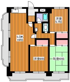 地下鉄成増駅 徒歩1分11階Fの間取り画像