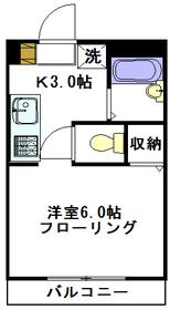 Matsugaoka Court F2階Fの間取り画像