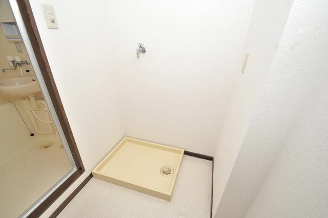 クリスタルアーク 嬉しい室内洗濯機置場。これで洗濯機も長持ちしますね。