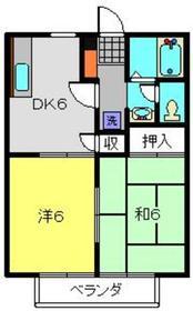 二俣川コアA2階Fの間取り画像