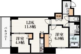 三鷹駅 徒歩5分8階Fの間取り画像