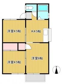 内藤コーポ2階Fの間取り画像
