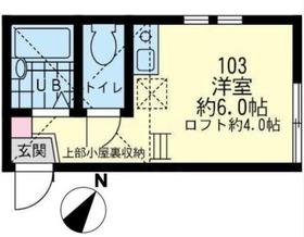 ユナイト尻手エルネストの杜1階Fの間取り画像