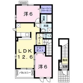 セピアコートヤマカナ2階Fの間取り画像