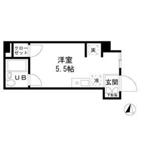 新東京タワーレジデンスII1階Fの間取り画像
