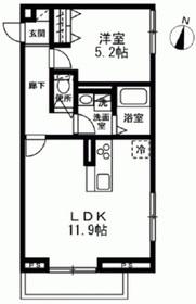 仮)江東区大島3丁目新築計画1階Fの間取り画像