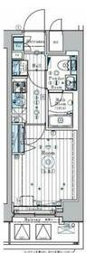 リライア横濱関内11階Fの間取り画像