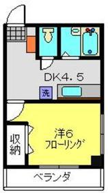 クラージュ3階Fの間取り画像