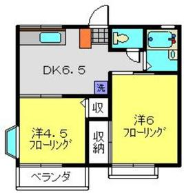 ISコーポ2階Fの間取り画像
