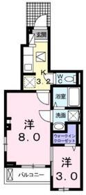 ファッシーナ1階Fの間取り画像