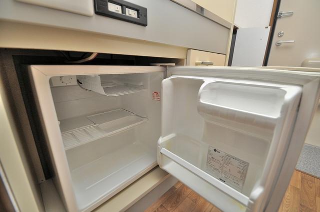 ラポルテじゅじゅ 嬉しいミニ冷蔵庫付きです。家電代1つ分浮きましたね。