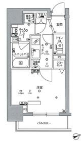 スカイコートTOKYOスカイツリー11階Fの間取り画像