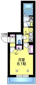 仮称 亀戸6丁目メゾン1階Fの間取り画像
