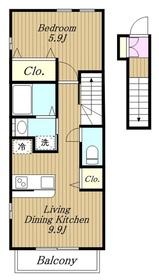 ラッフィナートⅣ2階Fの間取り画像