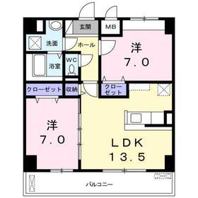 宮山駅 徒歩22分4階Fの間取り画像