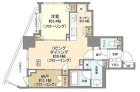ザ・パークハウス小石川春日15階Fの間取り画像