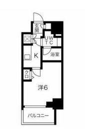 スパシエロッサ横浜吉野町2階Fの間取り画像