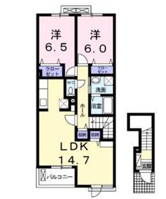紅葉2階Fの間取り画像