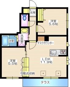 コンフォール北鎌倉1階Fの間取り画像