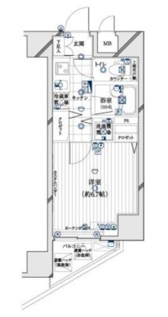 六本木一丁目駅 徒歩3分間取図